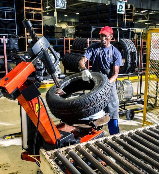 CFAO Production Support usine montage pneus